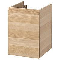IKEA GODMORGON Шкаф для корзины для белья, беленый дубовый шпон  (103.249.14)