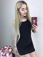 Молодежное платье майка мини вискозное черное, фото 1