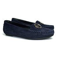 """Мокасины замшевые женская обувь больших размеров Ornella M4 O`Blu BS by Rosso Avangard цвет синий """"Сапфир"""", фото 1"""