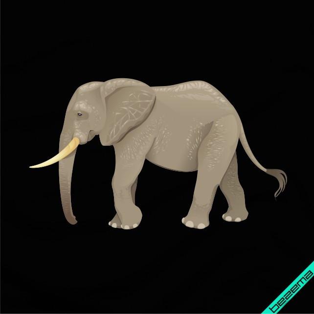 Термодрук на фатин Слон [Свій розмір і матеріали в асортименті]