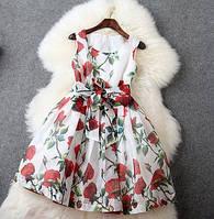 Короткое пышное платье . белое и черное