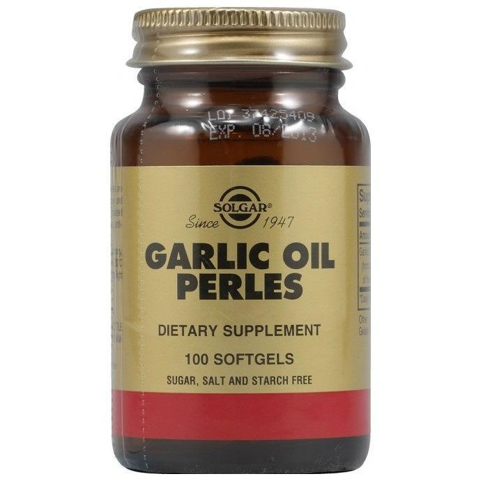 Чесночное масло Перлес (Garlic Oil Perles) капсуслы Солгар №100