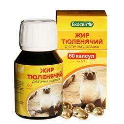 Экосвит ОЙЛ Жир тюлений капсулы 0,3 г №60