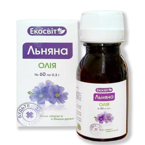 Экосвит ОЙЛ Масло льняное капсулы 0,3 г №60