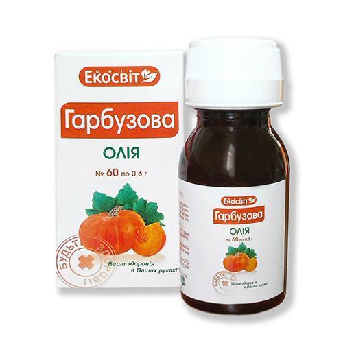 Экосвит ОЙЛ Масло тыквенное капсулы 0,3 г №60