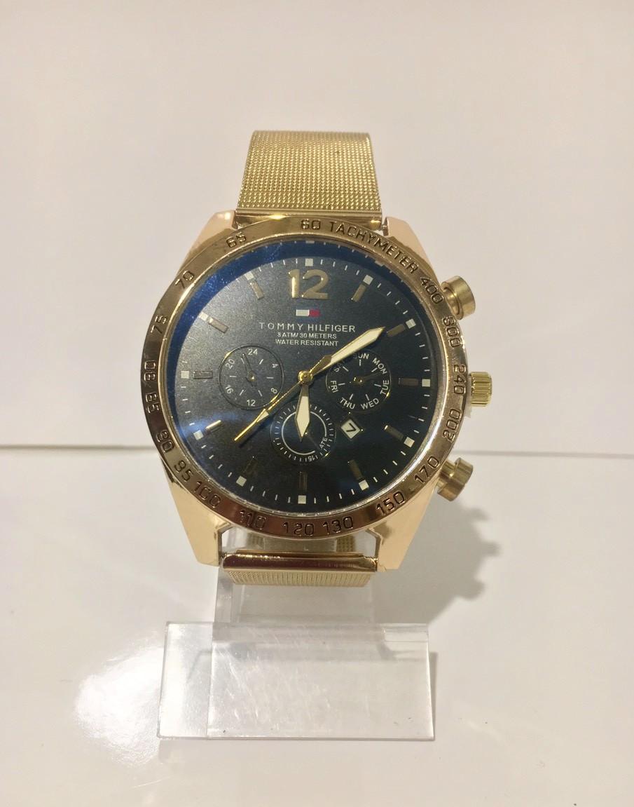 Мужские наручные часы Tomy Hiifiger (Томми Хилфигер), золотистый цвет
