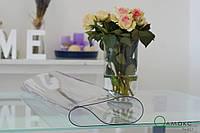 Прозрачное плотное покрытие на стол, мягкое стекло,  прозоре покриття для захисту стола, ширина 0,9м