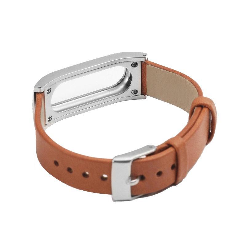 Ремешок для фитнес-браслета Mi Band Кожа Brown Xiaomi