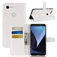 Чехол-книжка Litchie Wallet для Google Pixel 3 Белый
