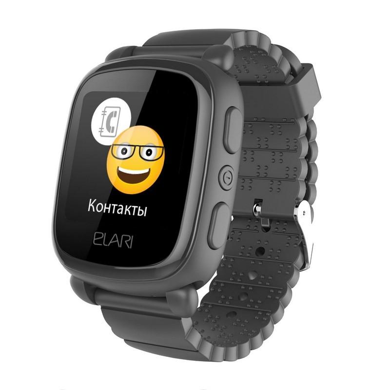 Смарт-часы детские KidPhone 2 Black с GPS-трекером (KP-2B) ELARI