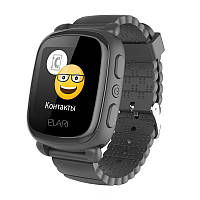 Смарт-часы детские KidPhone 2 Black с GPS-трекером (KP-2B) ELARI, фото 1