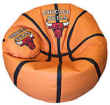 Кресло-мяч баскетбол Чикаго Булс с именем, фото 5