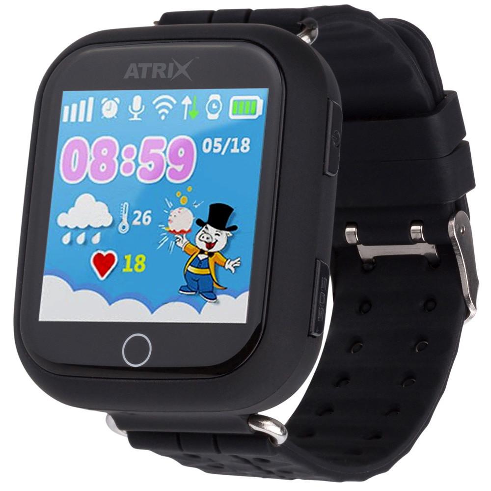 Умные часы Smart watch iQ100 Touch ATRIX black