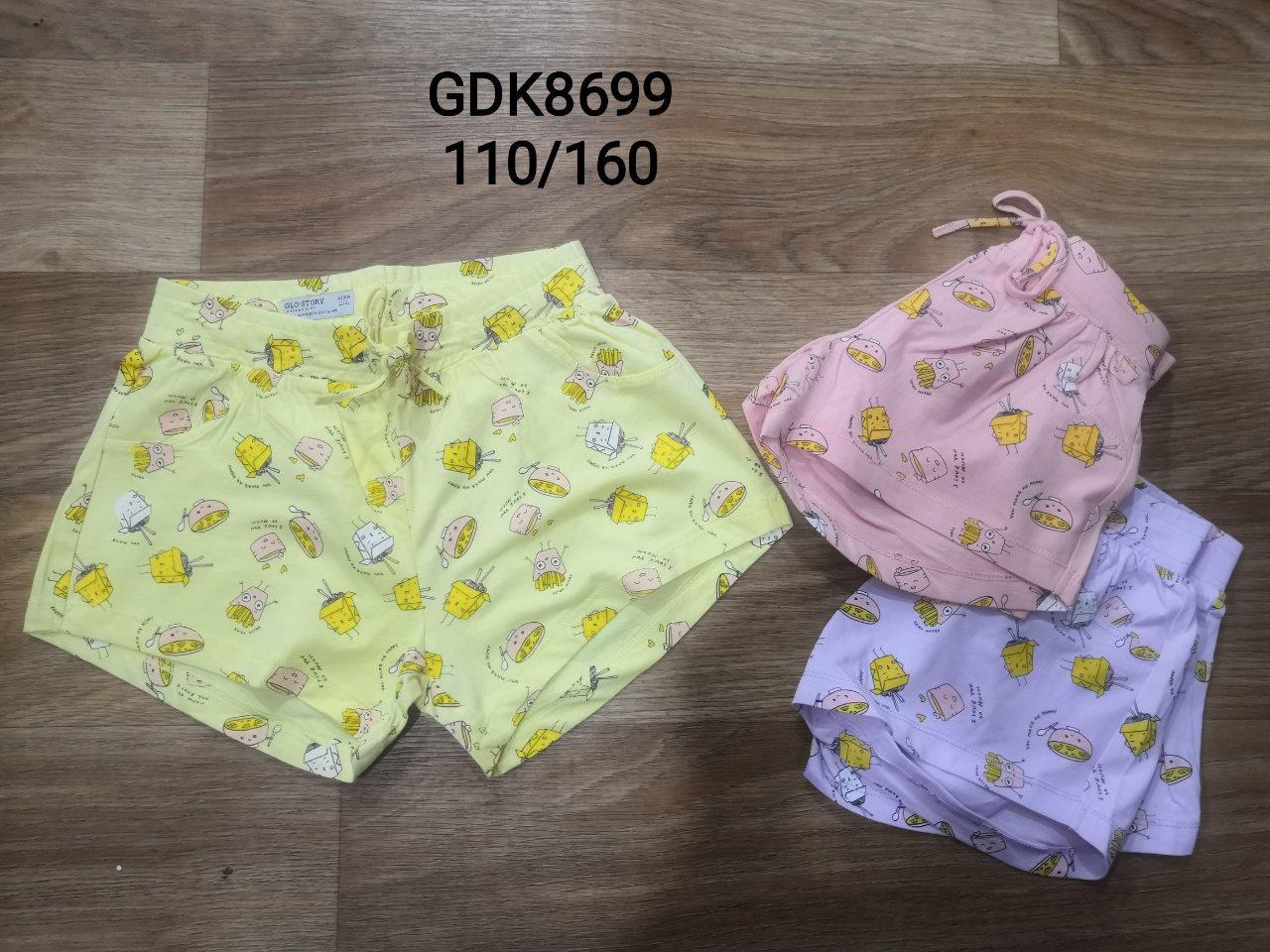 Шорты  для девочек оптом ,Glostory, размеры 110-160, арт. GDK-8699