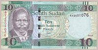 Банкнота Южного Судана 10 фунтов 2016 г. UNC