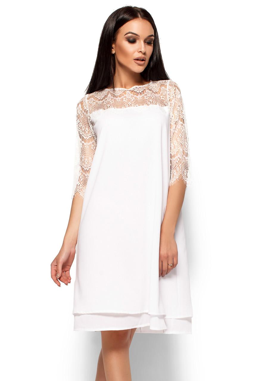 (S, M, L) Вечірнє біле плаття з мереживом Natty