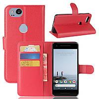 Чехол-книжка Litchie Wallet для Google Pixel 2 Красный