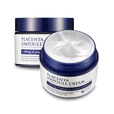 Антивозрастной питательный  плацентарный крем для лица Mizon Placenta Ampoule Cream