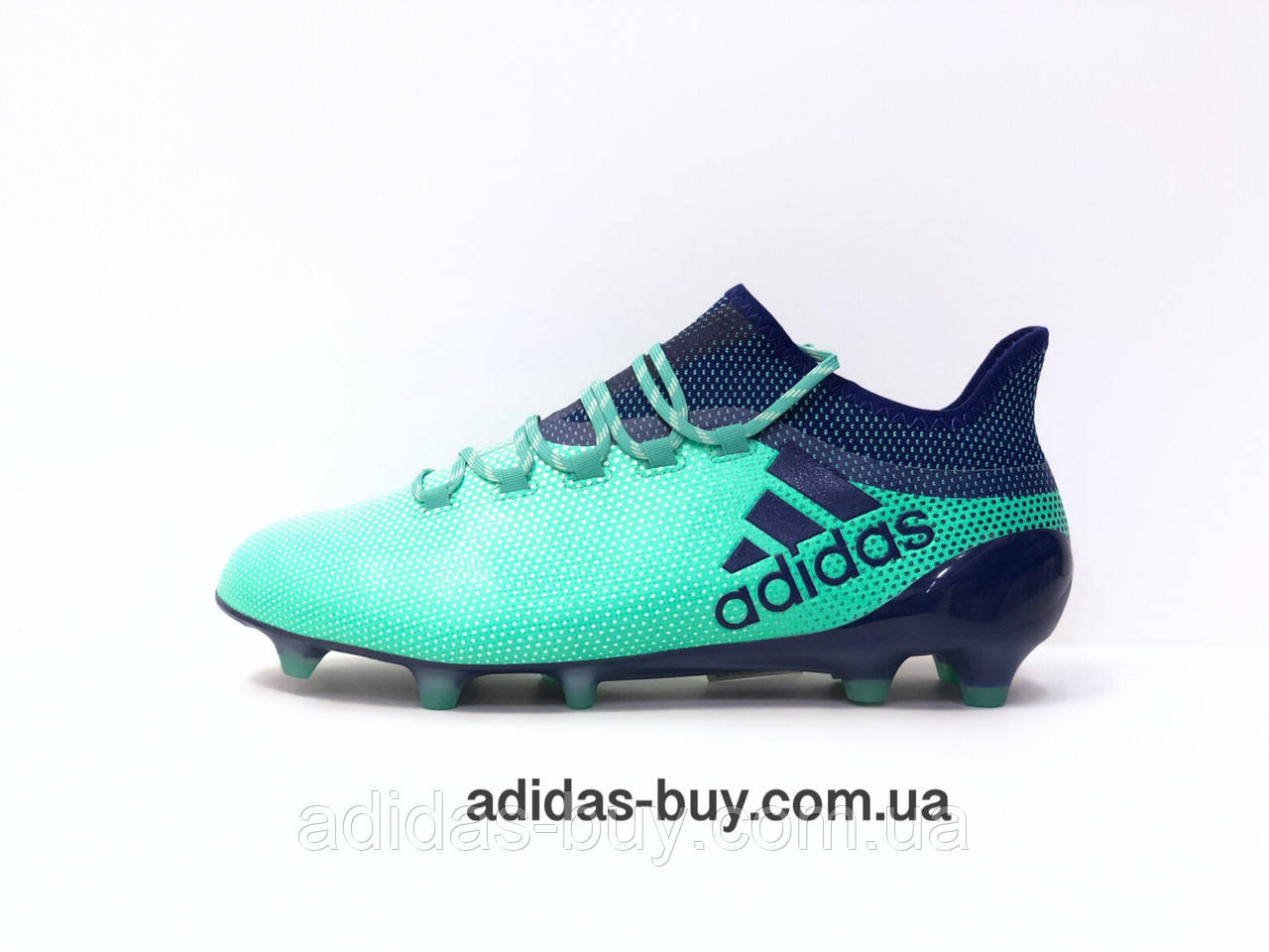 Профессиональные футбольные бутсы Adidas X 17.1 FG M оригинал  CP9163 цвет: синий/зелёный