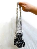 Серебряная сумка -  авоська - мини, фото 1