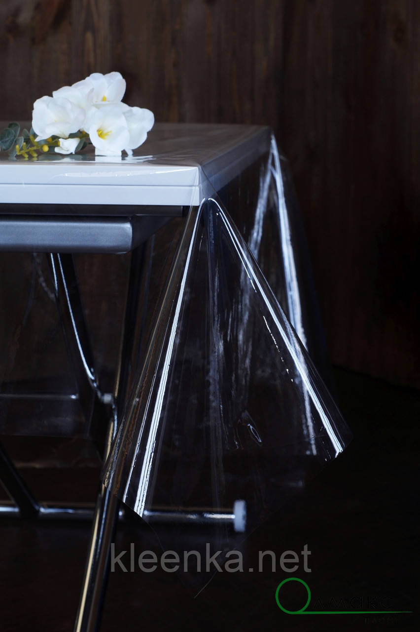 Прозрачная скатерть силиконовая для защиты стола, серванта, тумбочек