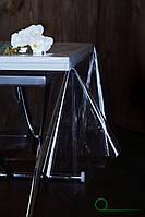 Прозрачная скатерть силиконовая для защиты стола, серванта, тумбочек, прозора плівка на стіл
