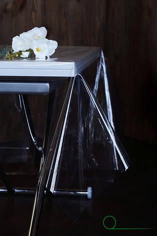 Прозрачная скатерть силиконовая для защиты стола, серванта, тумбочек, фото 2