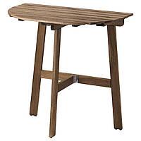 IKEA ASKHOLMEN Садовый пристенный стол пятно светло-коричневый (803.210.21)