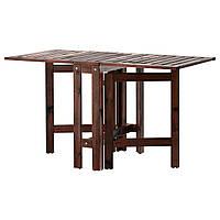 IKEA APPLARO Садовый пристенный стол, коричневая морилка  (502.085.35)