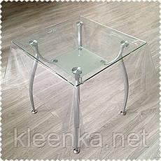 Прозрачная скатерть силиконовая для защиты стола, серванта, тумбочек, фото 3