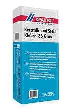 Смесь сухая, минеральная, для облицовки, Краутол (Krautol Keramik und Stein Kleber 86 Grau) 25 кг