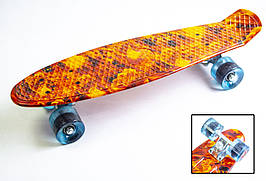 """Penny Board """"Огонь-кулак"""". Матовые колеса"""
