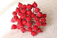 Сахарные ягодки 400 шт/уп. оптом красного цвета (калина в сахаре), фото 1
