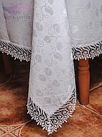 Скатерть с кружевом 110х150. Цвет белый