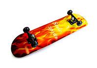 """Скейт деревянный Scale Sports """"Пламя"""", нагрузка до 80 кг, фото 1"""
