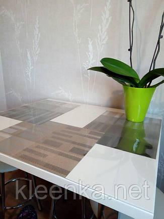 Прозрачное покрытие, мягкое стекло для защиты стеклянного стола, серванта, тумбочек, м'яке скло, фото 2