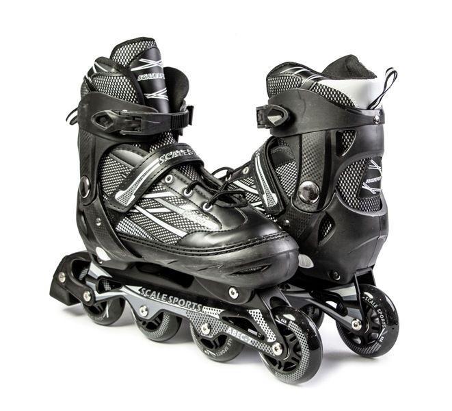 """Ролики з PU колесами розсувні Scale Sports """"Adult Skates"""". Чорні, розмір 41-44"""