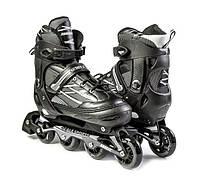 """Ролики с PU колесами раздвижные Scale Sports """"Adult Skates"""". Черные, размер 41-44, фото 1"""