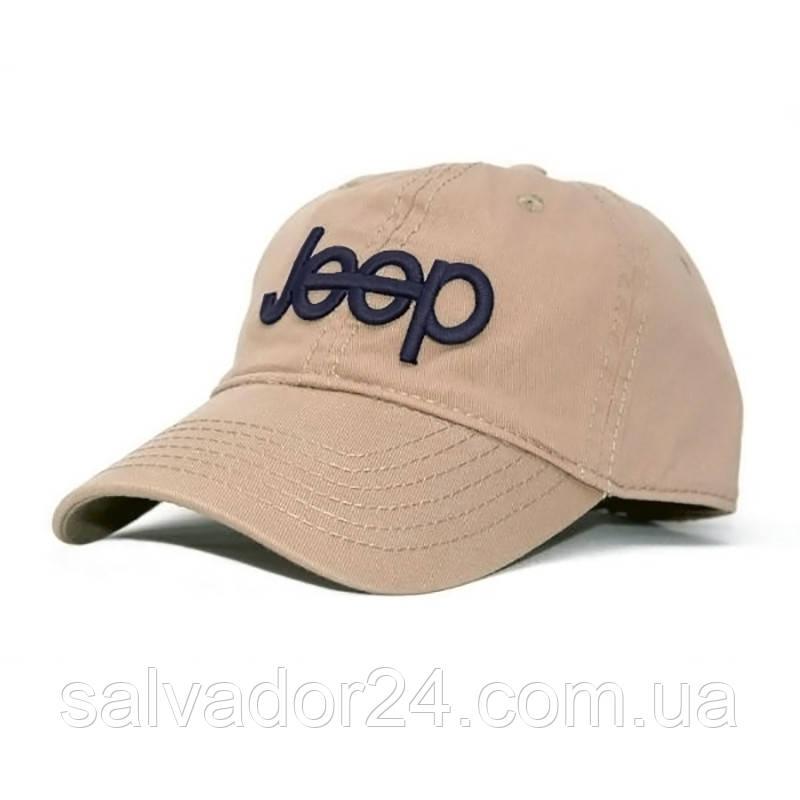 Бейсболка, кепка Jeep бежевая