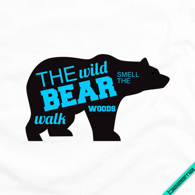 Термонаклейки на челочно-носочные изделия The wild bear [Свой размер и материалы в ассортименте]