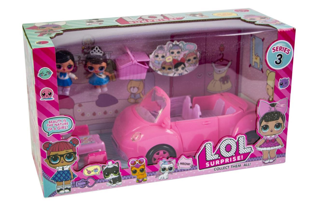 Набор кукла ЛОЛ с машинкой