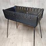 Мангал чемодан складной на 6 шампуров, толщина 3мм, переносной, компактный, для шашлыка и гриля, фото 5