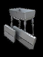 Мангал чемодан складной на 6 шампуров, толщина 3мм, переносной, компактный, для шашлыка и гриля