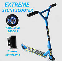 Трюковый самокат Scale Sports Extrem Abec-11 синий