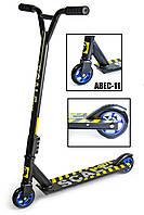 Трюковый самокат Scale Sports Extrem Abec-11 черный, фото 1