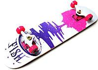 Скейт деревянный FISH Дерево, нагрузка до 90 кг. Польша!, фото 1
