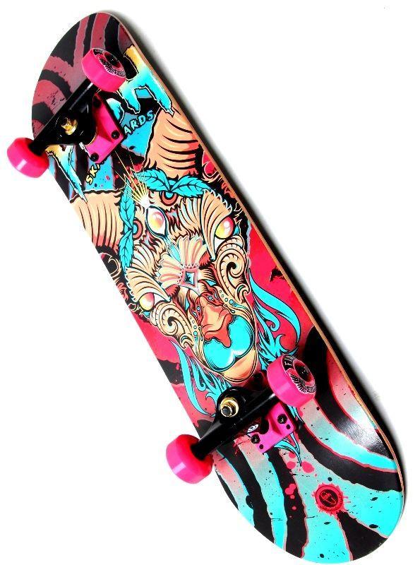 Скейт деревянный FISH Овен, нагрузка до 90 кг. Польша!