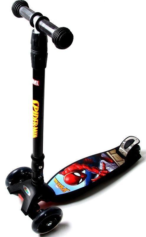 """Самокат Maxi Scooter Disney Marvel """"Spiderman"""" с наклоном руля и со складной ручкой"""