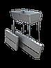 Мангал чемодан складной на 8 шампуров, толщина 3мм, переносной, компактный, для шашлыка и гриля - Фото