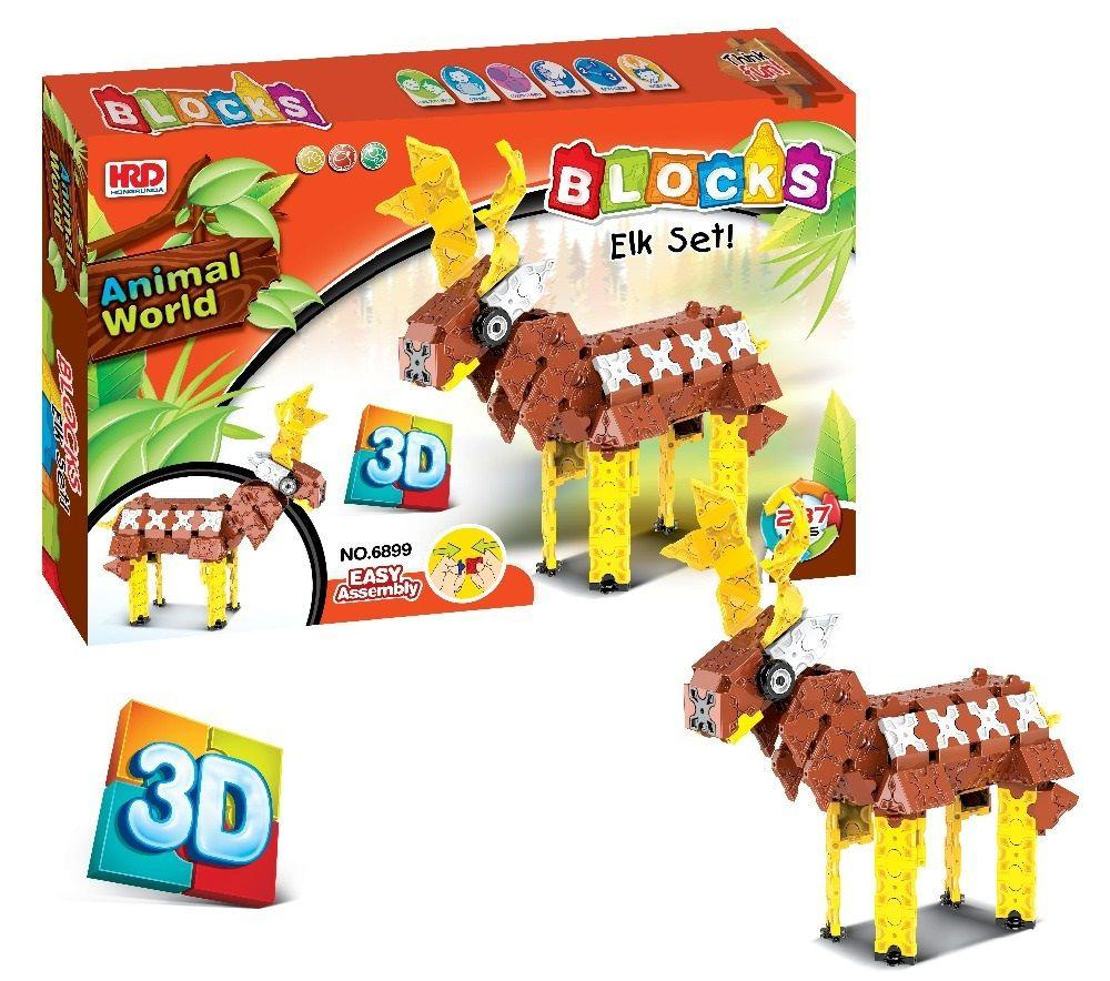 3D-конструктор Animal World - Олень , 287 деталей